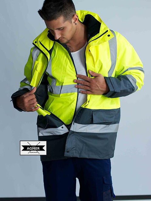 Hi-Vis Poly-Oxford 4 In 1 Jacket With Tape