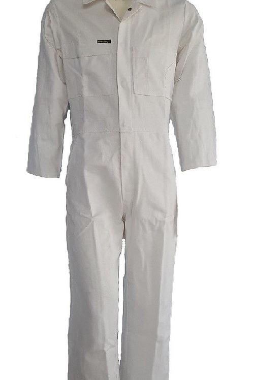 White Cotton Drill Coveralls