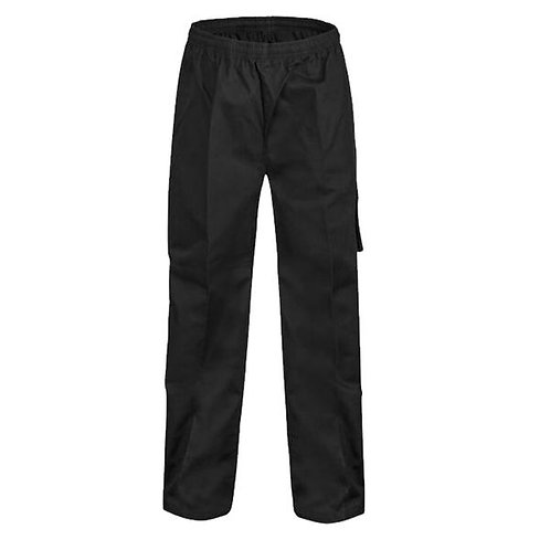 Black Elastic Waist Chef Pants