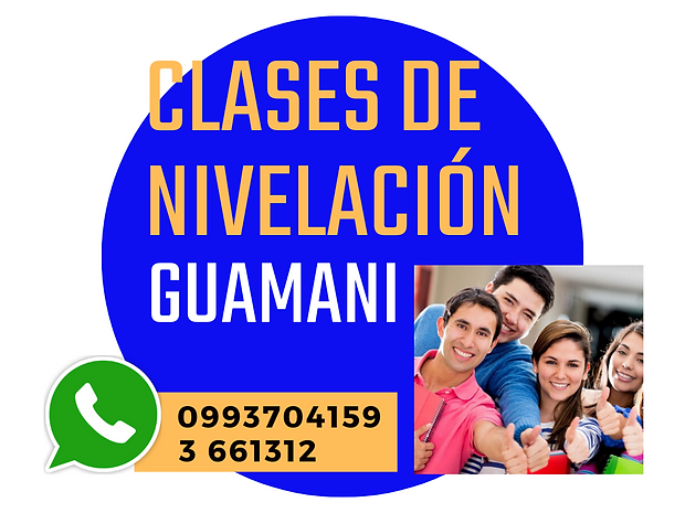 CLASES DE NIVELACION EN QUITO GUAMANI