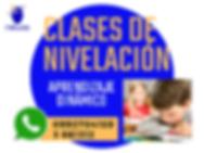 CLASES DE NIVELACION ACADÉMICA