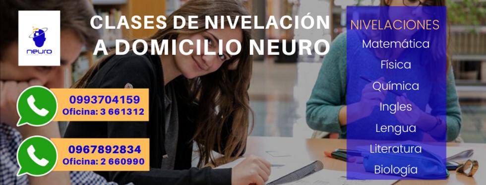 🚀 CLASES DE NIVELACION A DOMICILIO NEURO