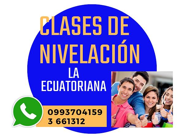 CLASES PARTICULARES DE NIVELACION EN QUI