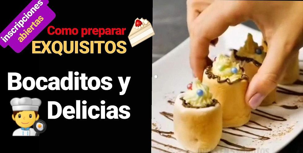 curso de BOCADITOS Y DELICIAS EN QUITO.j