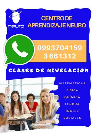 CLASES DE NIVELACION EN GUAMANI