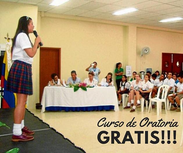 Curso de Oratoria gratis para estudiante