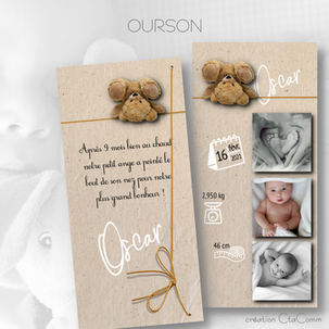 faire-part OURSON