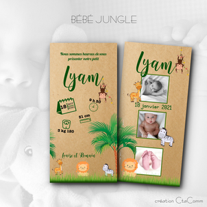 FAIRE-PART BÉBÉ JUNGLE