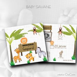FAIRE-PART BABY SAVANE