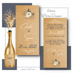 faire-part White Flower