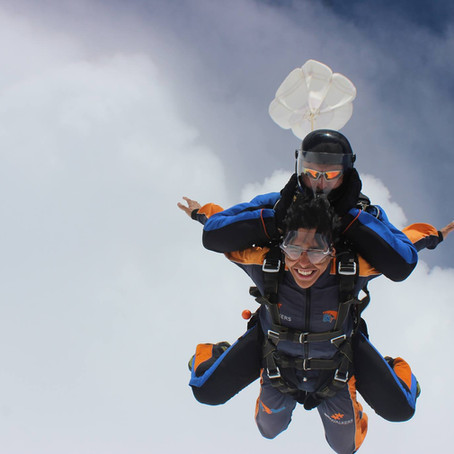 I jumped off the plane in Prague!