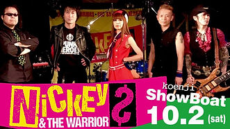 """10.2 sat   NICKEY & THE WARRIORS CD""""TOKYO DOLLS""""レコ発ワンマン""""DOLL PARTY"""""""
