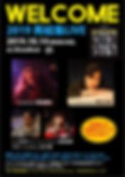 10.14 mon/hol   WELCOME  2019 再結集LIVE