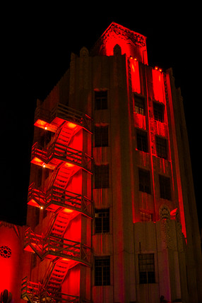Saban Theater Light it in Red