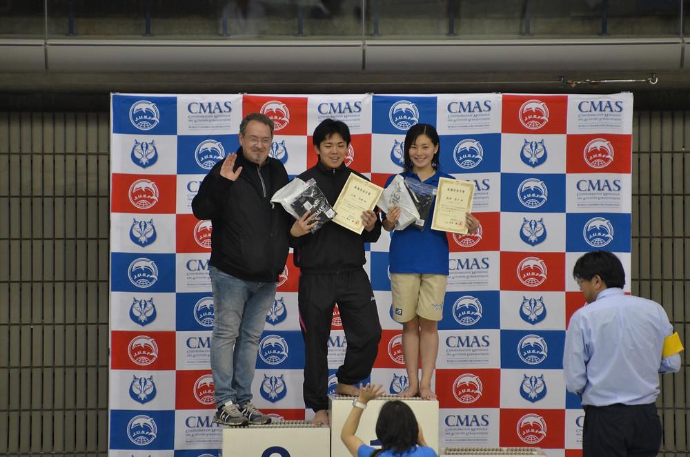 2018フィンスイミング日本選手権大会MVP AQUA FinD 髙津奈々 NAIA Finswimming Team 上野浩暉
