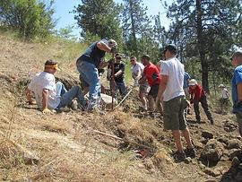 Volunteers help rebuild trail