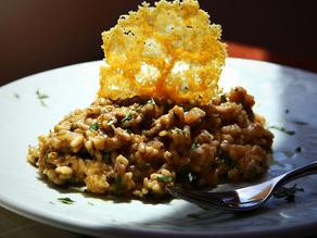 Shiitake Mushroom Risotto with Tarragon Creme