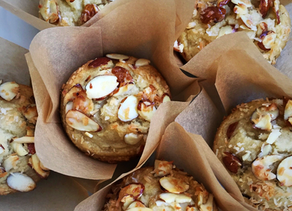 Almond Poppy Muffins Lemon Glaze ~Paleo