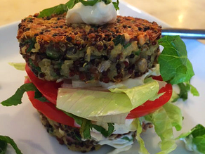 Inside-out Quinoa Burger & Mint Aioli