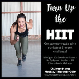 Turn Up the HIIT Phase 1: 5-Week Challenge