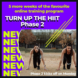 Turn Up the HIIT Phase 2: 5-Week Challenge