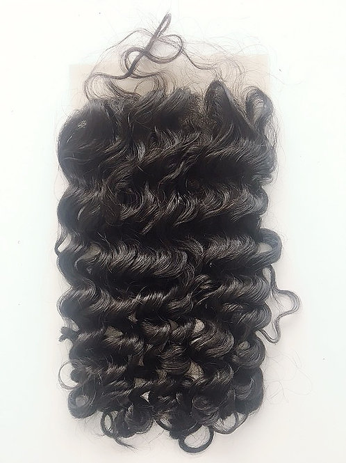 Brazilian Deep Wave 5x5 Lace Closure 100% Human Hair