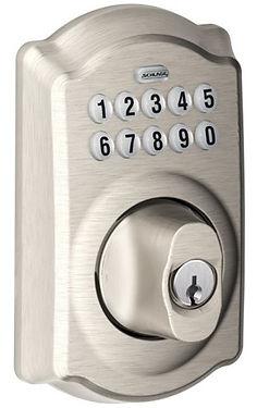 residential schlage keypad deadbolt lock
