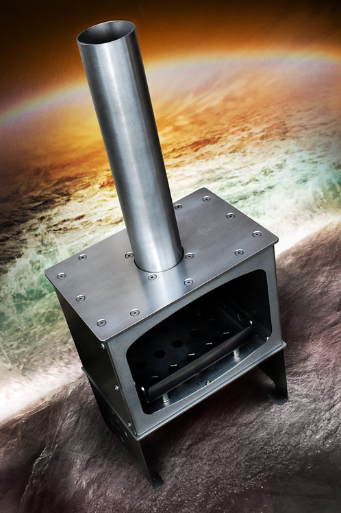 6 Elements Proteus - Outdoor Woodburner in Stainless Steel