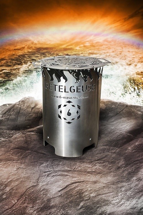 Betelgeuse Brazier - Hybrid Firepit in Stainless Steel - 6 Elements