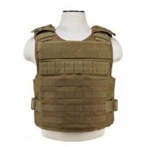 VISM® by NcSTAR® PLATE CARRIER WITH EXTERNAL HARD PLATE POCKETS [MED-2XL] - TAN