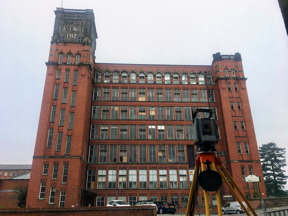 Using a Trimble S7 we measured the south elevation building facade of the East Mill in Belper Derbyshire