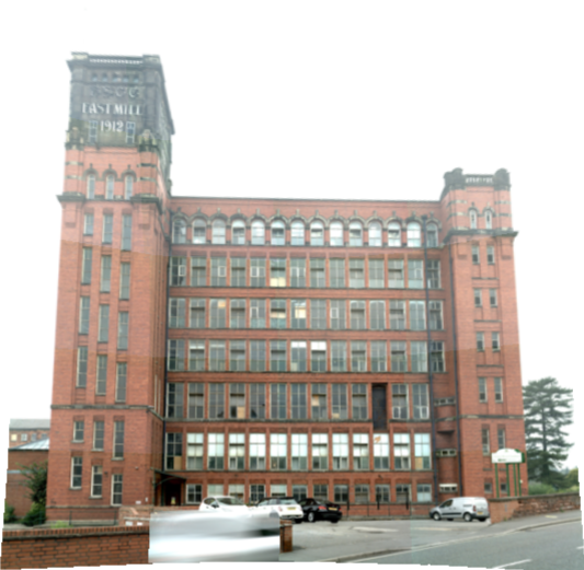 Using the Trimble S7 we created vision images of the East Mill facade to create building elevation drawings