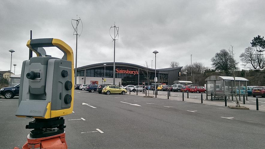 Land Survey of a Sainsbury's Supermarket