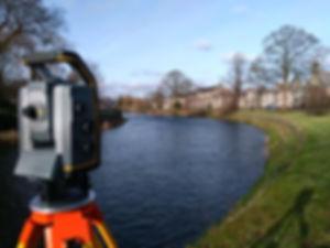 Surveying flood embankment