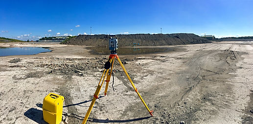 Site Engineer Surveying Stockpiles