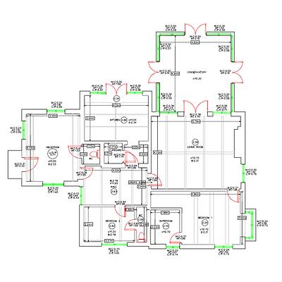Building Floor plan survey