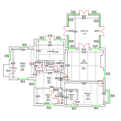 Building Floor plan survey