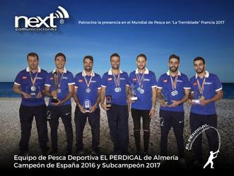 """NEXT PATROCINA EQUIPO DE PESCA """"EL PERDIGAL"""" EN EL MUNDIAL DE PESCA EN FRANCIA"""