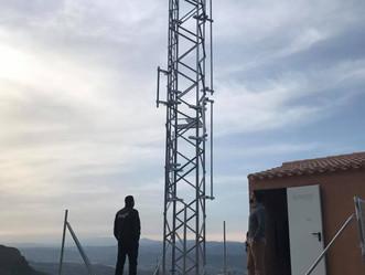 Reestructuración de nuestro Centro de Telecomunicaciones 'Nido del Aguila' en Sierra Cabrera