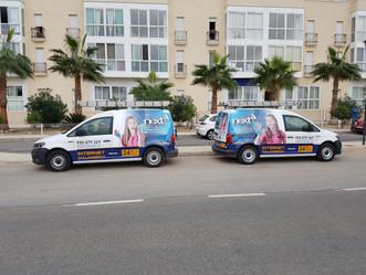 ¡La nueva imagen de Next Comunicaciones ya llegó a nuestros vehículos!