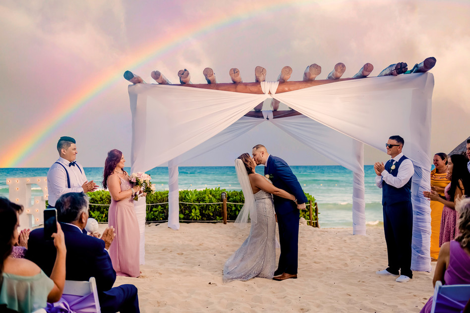 Beach Ceremony at Ocean Riviera Paradise by Santamaria Team