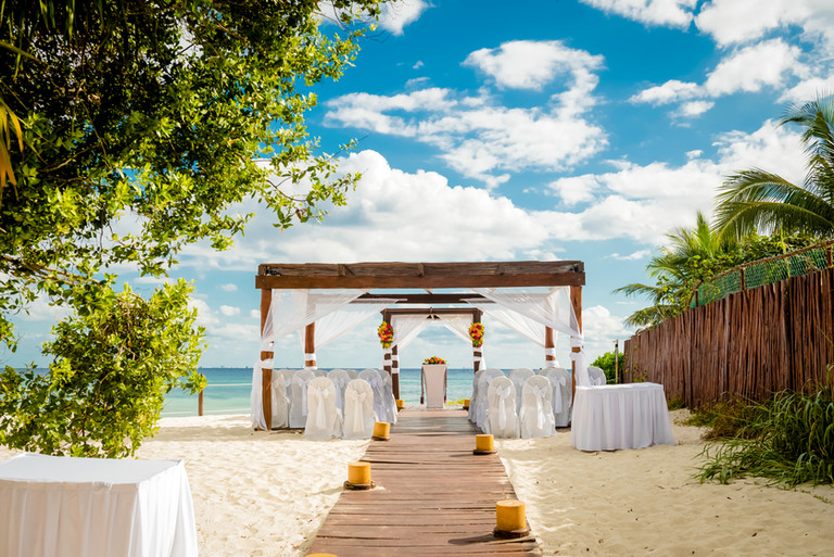 Beach reception at Grand Sunset Princess by Santamaria Team