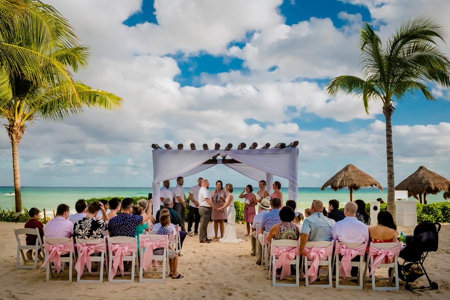 Beach Ceremony at Ocean Riviera Paradise by Santamaria Team