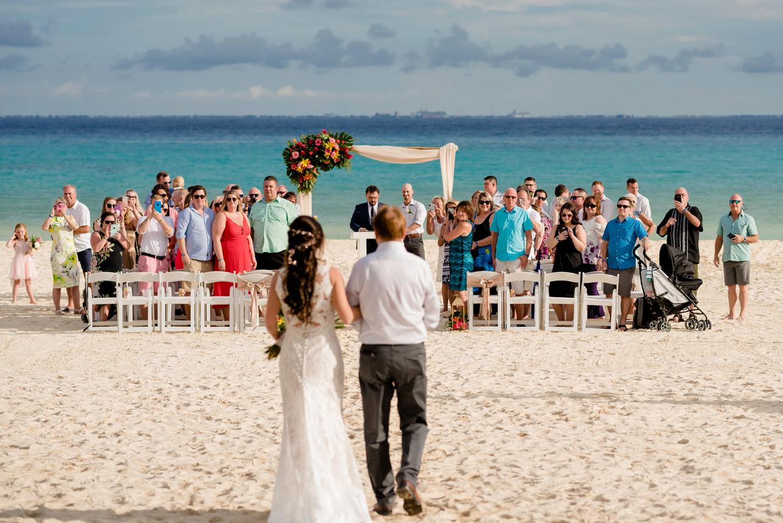 Beach Ceremony at Sandos Playacar by Santamaria Team