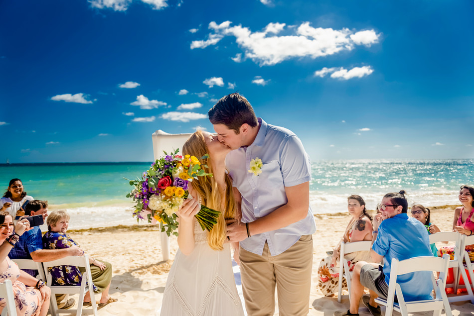 Beach Ceremony at Now Sapphire Riviera Cancun by Santamaria Team