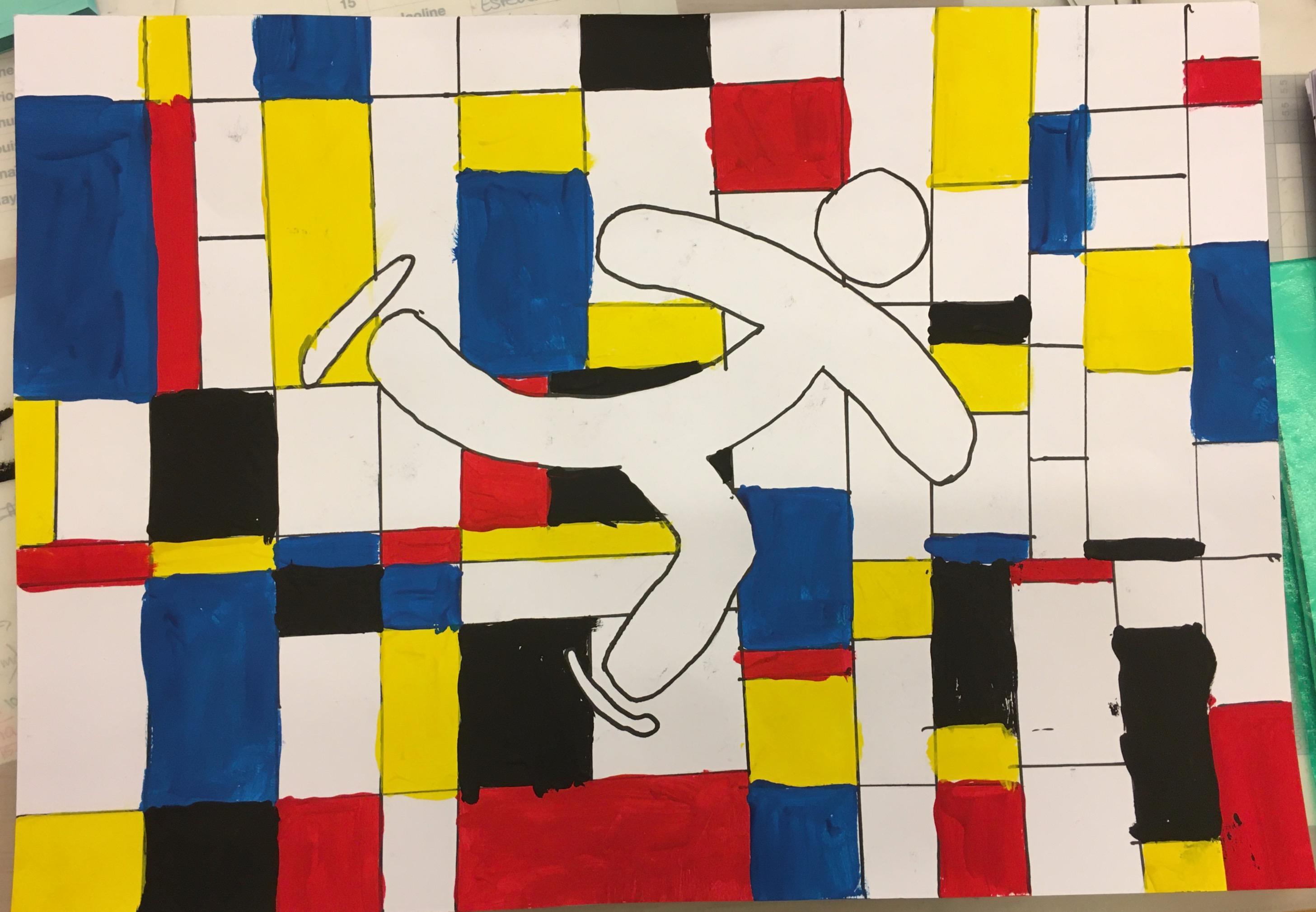 JOJ à la manière de Mondrian