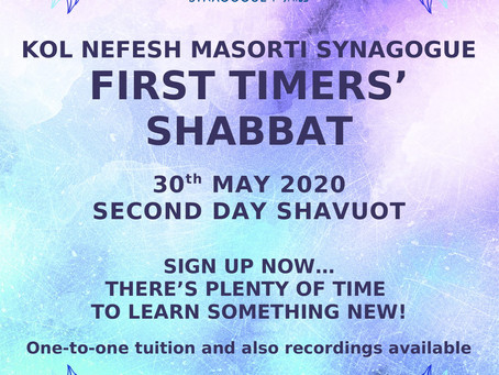 First-Timers' Shabbat