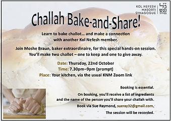Bake and share_Challah-baking Thurs 22 O