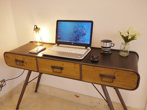 Industrial Desk and Drawers