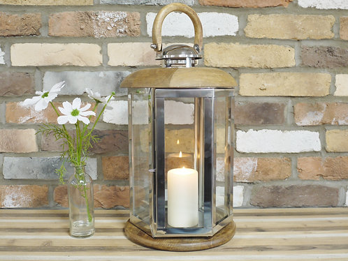Wooden and Glass Lantern